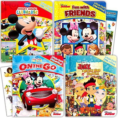 "Disney ""My First"" Look and Find Books Set Kids Toddlers -- 4 Books w Stickers (Mickey Mouse, Minnie Mouse and More!)"