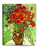 DecorArts - Red Poppies and Daisies, Vincent Van Gogh Art Reproduction. Giclee Canvas Prints Wall Art for Home Decor 30x24""