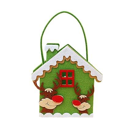 dolland christmas candy bag basket santa snowman reindeer style lovely treat bags children lover best wedding - Best Christmas Candy