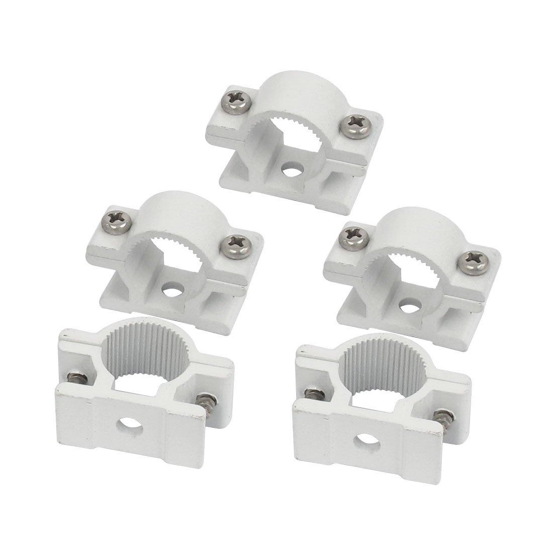 Sourcingmap–® 25mm Dia montado en la pared de tubo de aleación de aluminio cierre clip Clamp 5Pcs a15101900ux0882