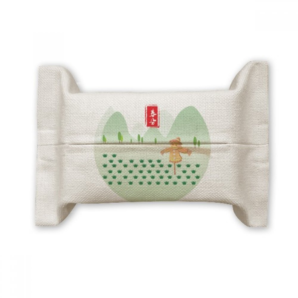 DIYthinker Vernal Equinox Twenty Four Solar Term Cotton Linen Tissue Paper Cover Holder Storage Container Gift