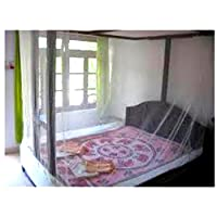 Shahji Creation Double Bed Mosquito Net, Multicolor (6X6.5Feet)