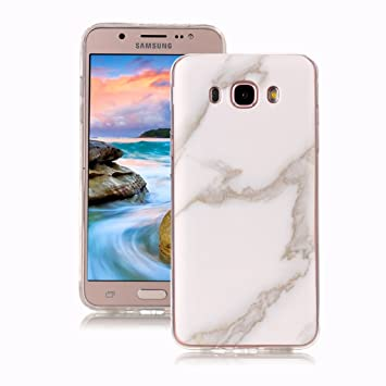 Yunbaoz Funda Compatible para Samsung Galaxy J5 2016 Mármol, Diseño Mármol Carcasa Suave Goma Silicona Soft Marble Case Suitable for Samsung Galaxy J5 ...