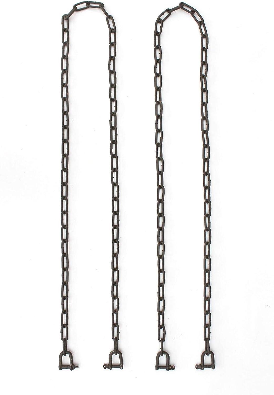 DanDiBo Kette Verl/ängerungskette H/ängesessel H/ängebank 2x 2m verzinkt Braun 300 kg Gliederkette Stahlkette Sch/äkel