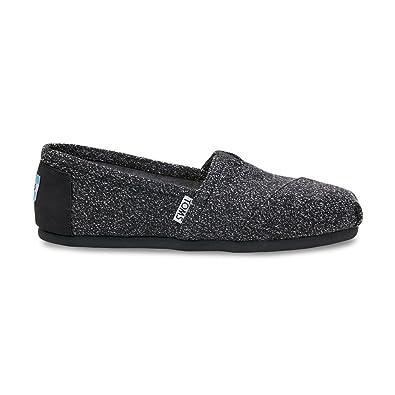 Toms Classic Black Marl Womens Espadrilles Shoes Slipons-4 7AkJY3Hj