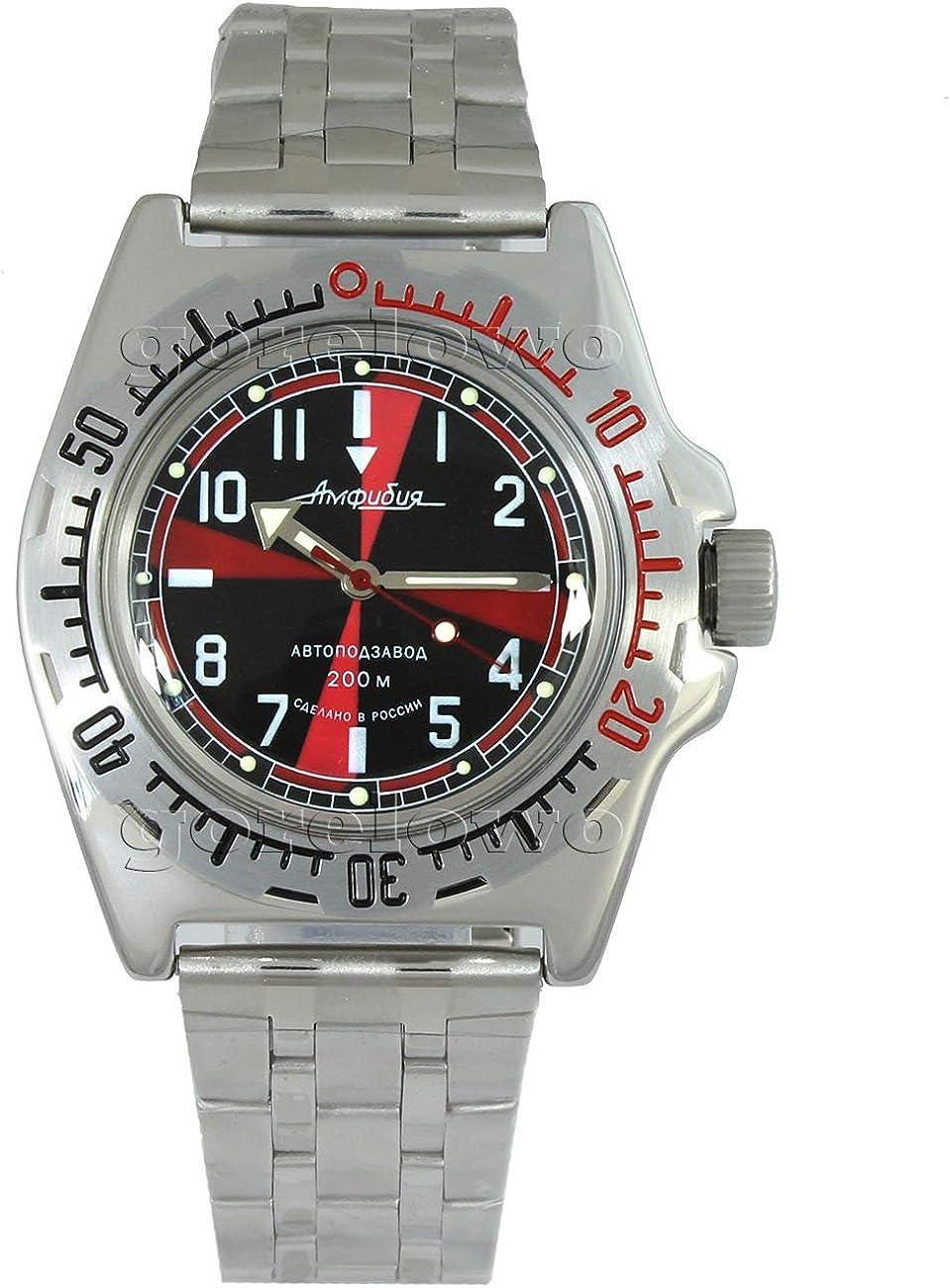 Vostok Amphibian 110650 2415b Scuba Diving Military Russian Watches Mechanical Automatic Mens Black