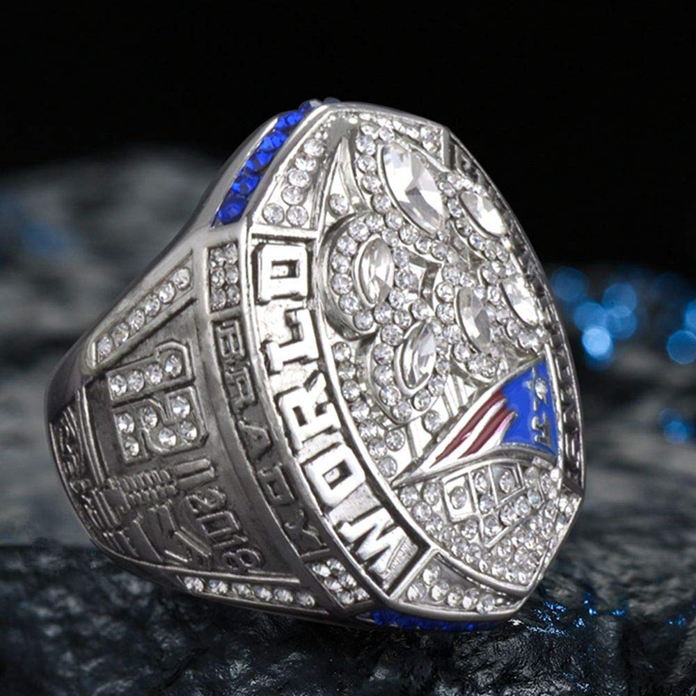 Super Bowl LIII 2019-2001 Championship Replica Rings Size 9-12 AJZYX New England Patriots 6 Years Rings Set