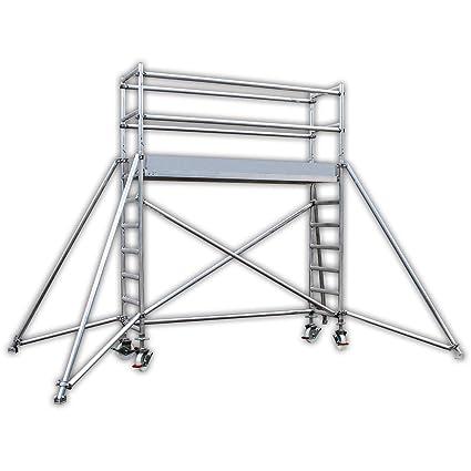 Altec profesional Andamio de aluminio Light 440 S, ancho 0,7 m, longitud 2,5 m, ...