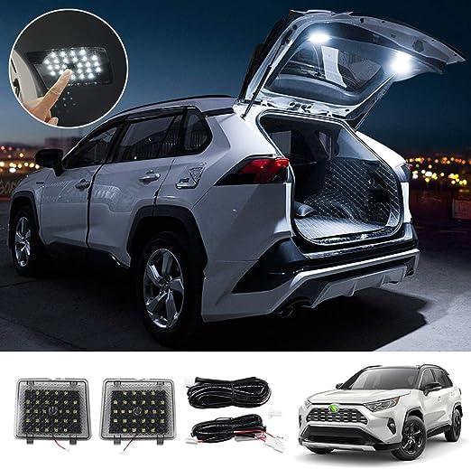 Amazon.com: Powerty Interior LEDLight CargoLedLights Trunk Lamps Decorative Atmosphere Lamp Trunk Ceiling Lighting for Toyota RAV4 2019 2020 2021(Pack of 2): Automotive