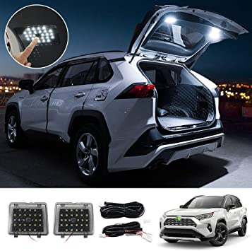 Amazon Com Powerty Interior Led Light Cargo Led Lights Trunk Lamps Decorative Atmosphere Lamp Trunk Ceiling Lighting For Toyota Rav4 2019 2020 2021 Pack Of 2 Automotive
