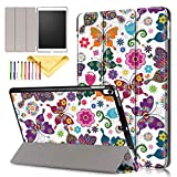 Cookk Slim Protective Smart Cases and Covers for iPad Air 3 (10.5-inch 2019) - Auto Wake Sleep - Colorful Butterfly