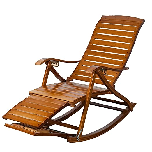 Reclinables LHA Ocio Ajustable Mecedora Bamboo sillones ...