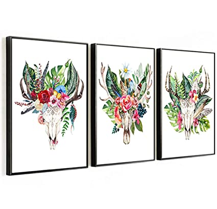 Amazon.com: Canvas Prints Wall Decor Art Simple Life Antlers ...