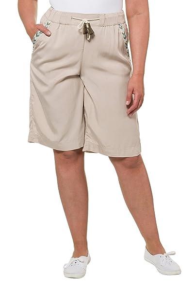 Ulla Popken Femme Grandes Tailles Pantalons d été Bermudas pour Les Femmes   4588a9cd5b1