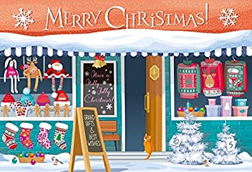 Laeacco 10x6.5ft Merry Christmas Happy New Year Vinyl Photography Backgrounds Winter Snowscape Backdrop Santa Clauss Gifts Red Car Dreamy Bokeh Haloes Xmas Eve Party Banner Family Photo Studio