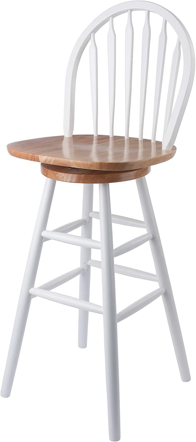 Winsome Wagner Stool, 30 , White Natural