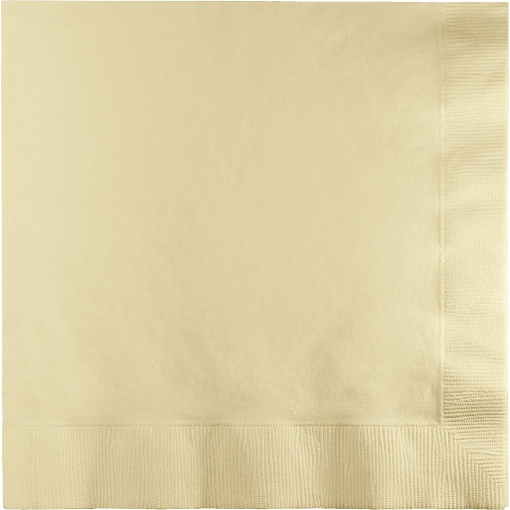 500-Count Touch of Color 3-Ply Paper Lunch Napkins, Ivory
