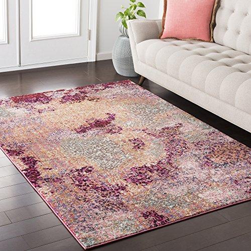 Modern Elegance Rose Rug (Surya ANI1020-5373 Anika Area Rug, 5'3 x 7'3, Rose)