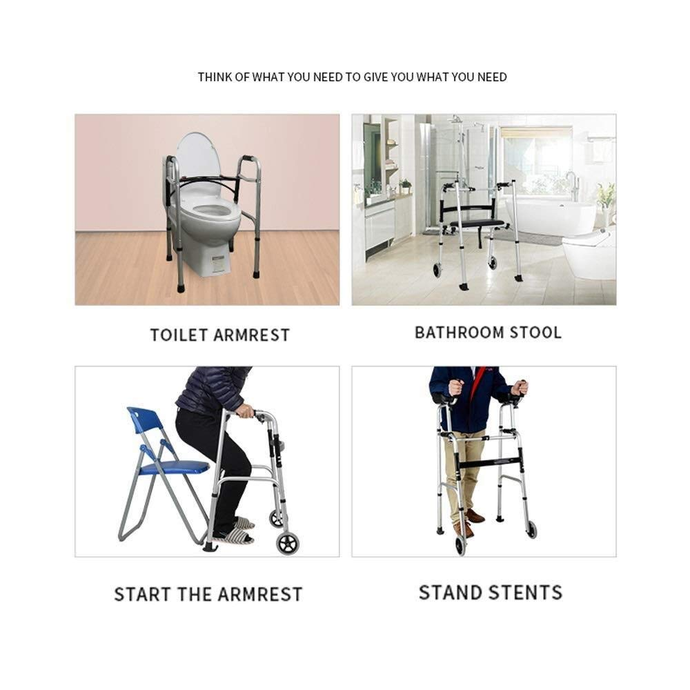 Walking Frame with Wheels Narrow, Portable Bag Lockable Brake Adjustable Height Auxiliary Walking Safety Walker (Color : with Brakes) by YL WALKER (Image #5)