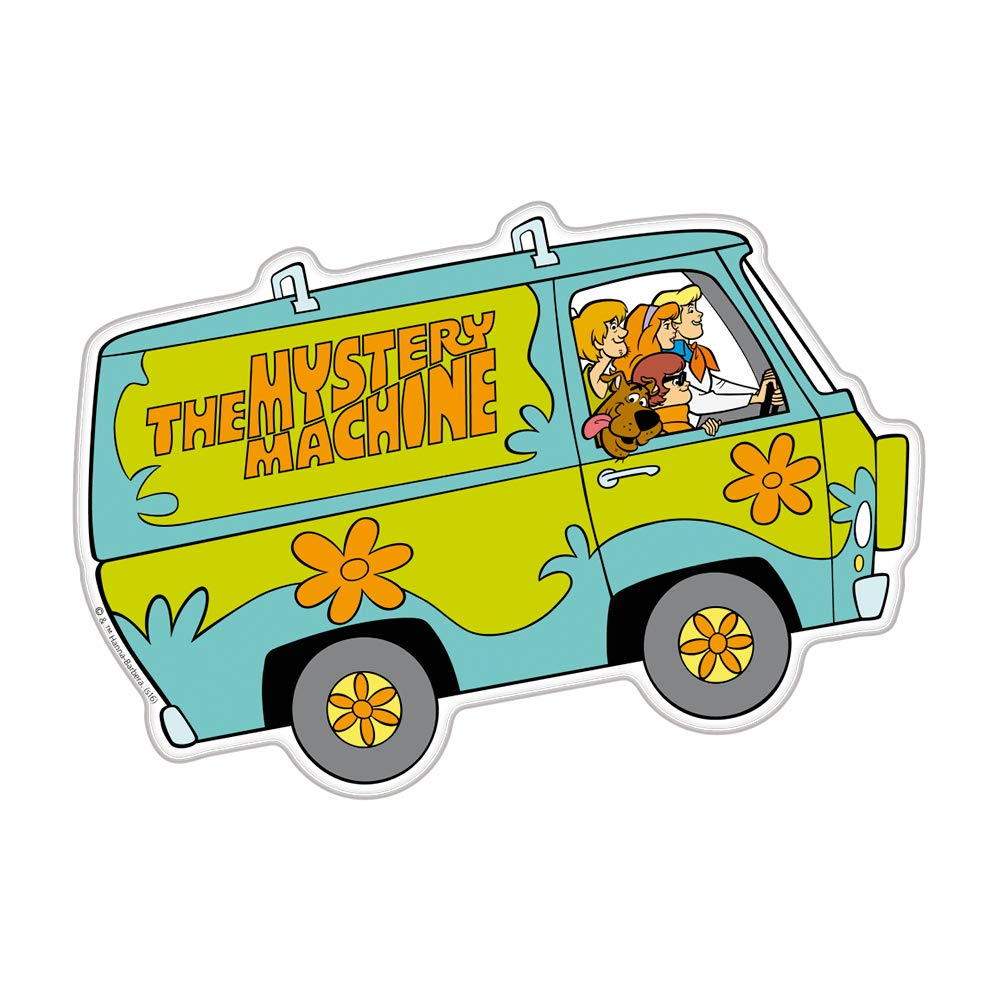 Fan Emblems Mystery Machine Character Car Decal Domed//Multicolor//Clear Laptops Scooby Doo Automotive Emblem Sticker Easily Applies to Cars Trucks Almost Anything Windows Motorcycles