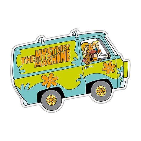 Fan des embl/èmes Mystery machine Logo Automotive Autocollant Scooby-Doo en forme de d/ôme Embl/ème Autocollant pour toutes les voitures camions motos portables presque tout Chrome, Multicolore