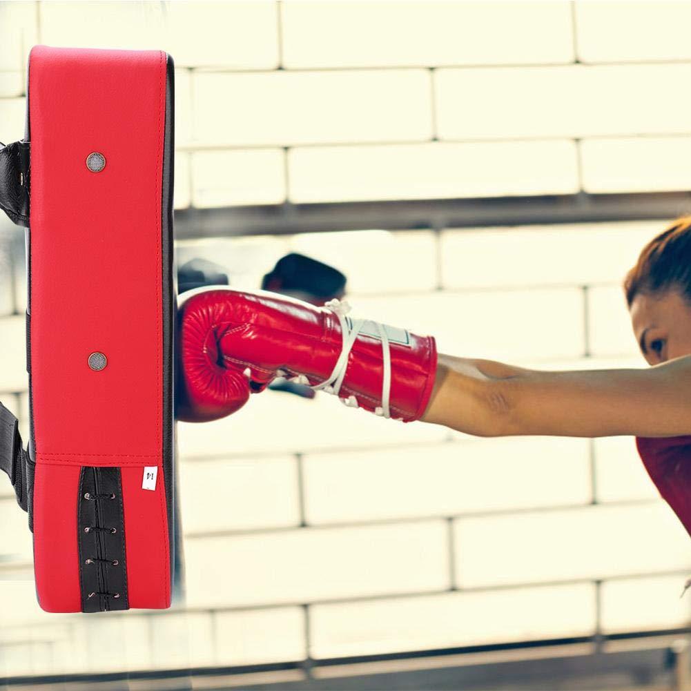 Azul Almohadilla de Boxeo de Piel sint/ética de Calidad Taekwondo Kick Pad Muay Thai Martial Art Kickboxing Punch Mitts Saco de Boxeo Kicking Shield Training Dilwe