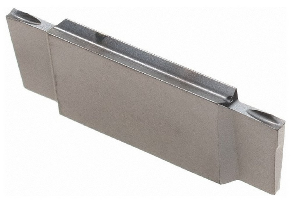 DGR1001 J IC908 Grade, 0.0394'' Cutting Width, Carbide Cutoff Insert, 8 Right Hand Lead Angle, 0.003'' Cnr Rad, TiN/TiAlN Coated, Double End