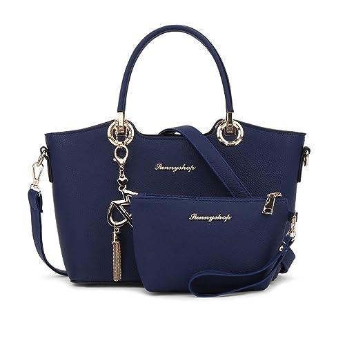 DEERWORD Mujer Shoppers y bolsos de hombro Bolsos bandolera Carteras de mano y clutches Azul Oscuro