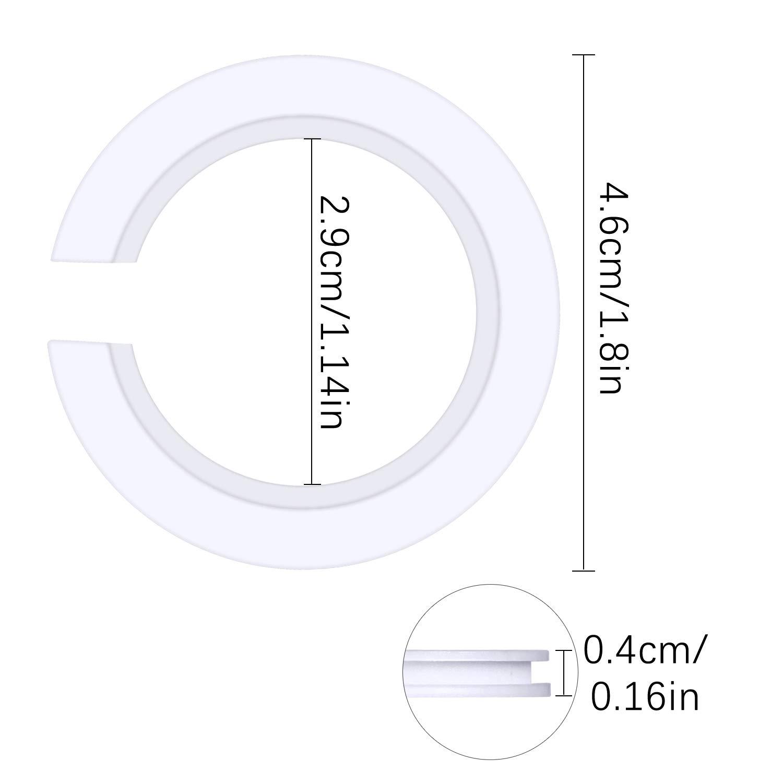 Dreamtop 20 St/ück E27 auf E14 Kunststoff Lampenschirm Ring Konverter Lampenschirm Ring Reduzierer f/ür Edison-Schraube Lampenschirme auf Bajonettsockel Lampenfassungen