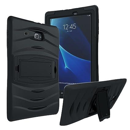 new arrival 2b1b1 2995a Samsung Galaxy Tab E Lite Tab 3 Lite 7 (T110 / T113) Shockproof Heavy Duty  Military Armor Hybrid Case Cover Black by KIQ