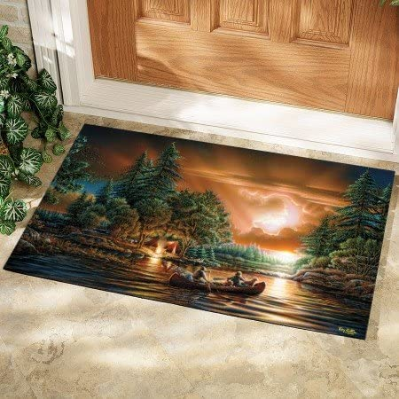 LANG – Fall Autumn Door Mats – Exclusive Artwork Artists – 100 Polyester – Slip-Resistant Rubber Backing – 18 x 30 Evening Rendezvous