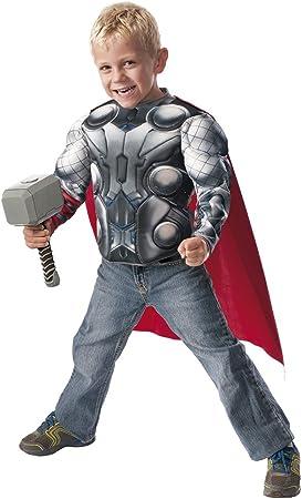 Avengers Disfraz infantil Thor, pecho y martillo, en caja, M ...