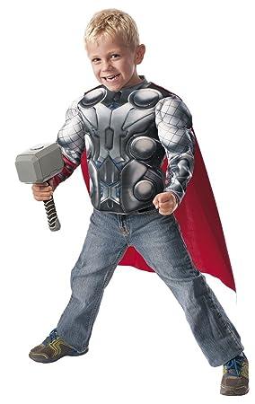 Avengers- Disfraz infantil Thor, pecho y martillo, en caja, M (Rubies Spain 31484)