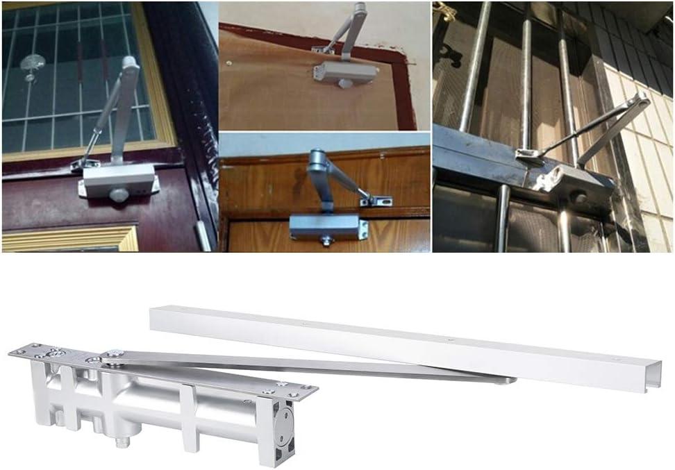 Cierrapuertas Aluminio Cierrapuertas autom/ático Posicionamiento Oculto Tamp/ón hidr/áulico Cierrapuertas Herrajes Accesorios 80KG