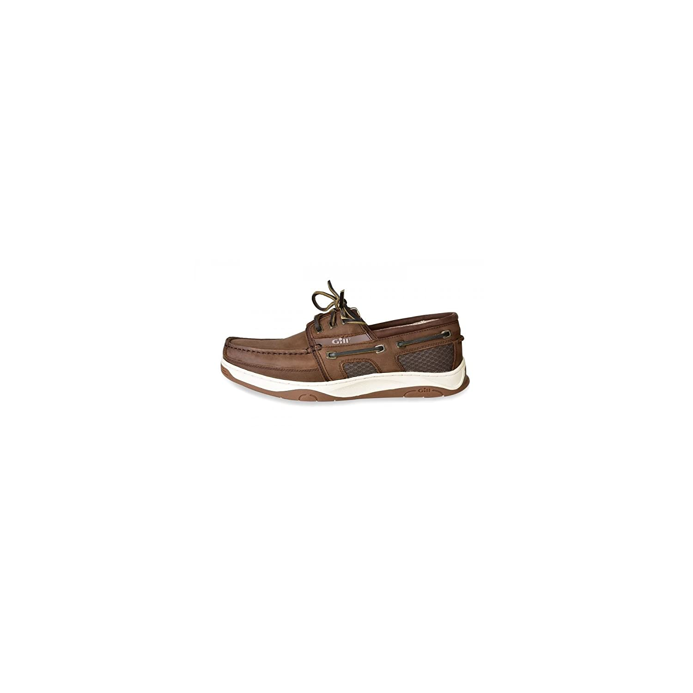 Gill Newport 3 Eye Deck Shoes 2018 - Dark Brown 46 46|marrón oscuro