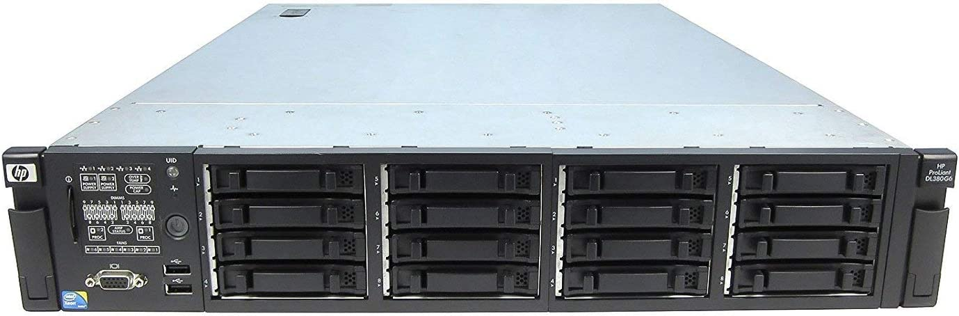 HP Proliant DL380 G6 Two Quad Core E5540 2.53GHz 24GB RAM P410i 2X72GB (Certified Refurbished)