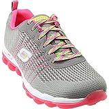 Skechers Sport Women's Skech Air Style Fix Fashion Sneaker,Light Grey/Pink,8 M US