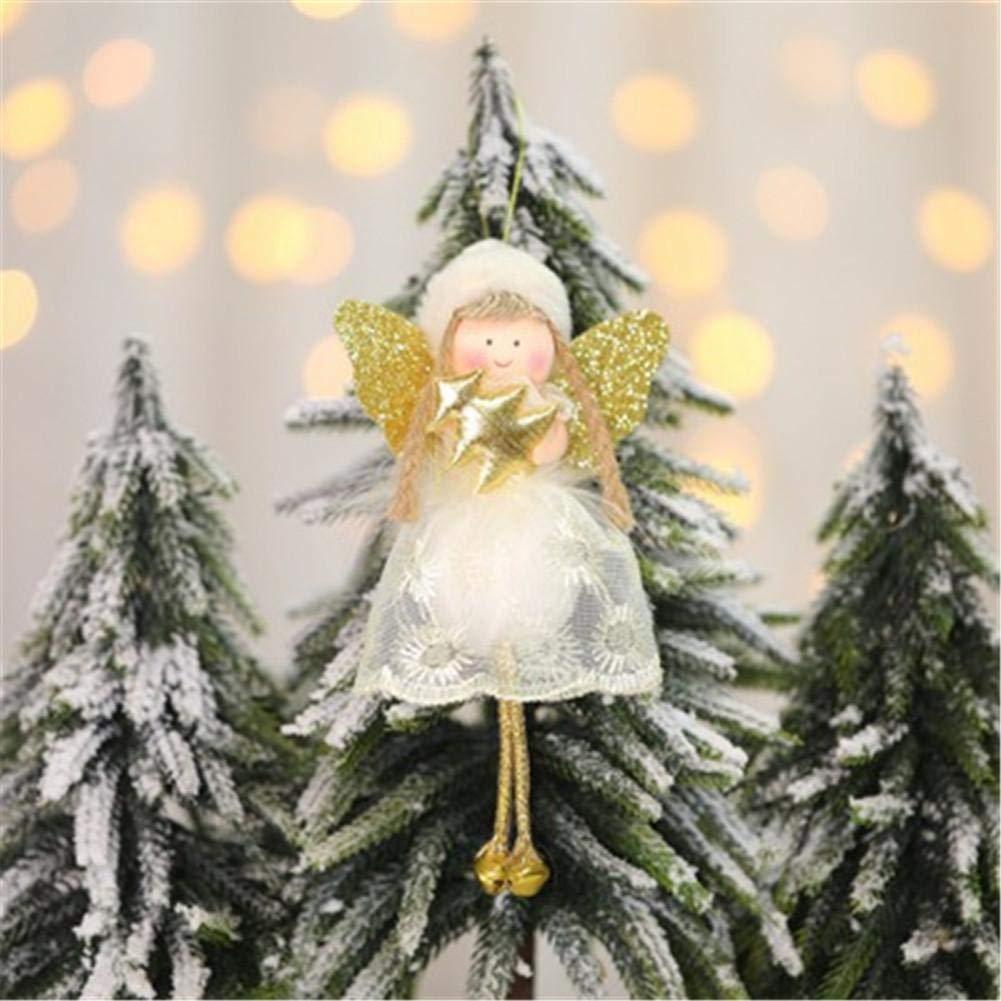 Rich-home Adornos Para /Árboles De Navidad Angel Doll Colgante Decoraciones Colgantes Manualidades Navide/ñas Para Decoraci/ón De Puertas De /Árboles De Navidad