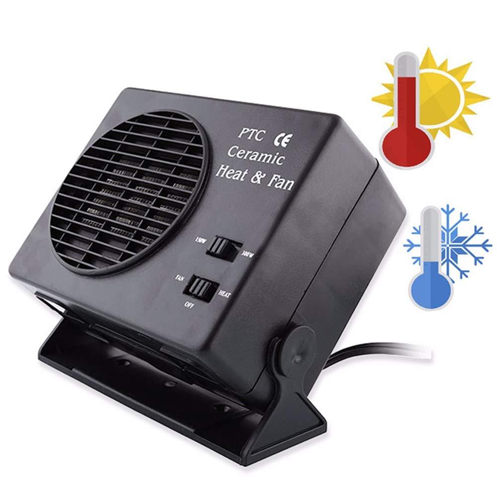 Acquisto YSCCSY Riscaldatore in Ceramica per Auto 12V 2 in 1 Veicoli elettrici per Auto SUV 12V 150 300W Scaldino Ventilatore sbrinatore in Acciaio Inox Prezzi offerte