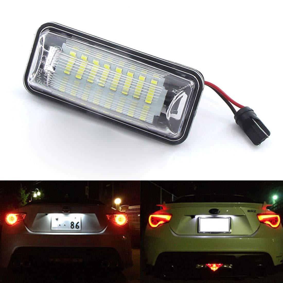 MuChangZi 2 St/ücke Wei/ße LED Kennzeichenbeleuchtung Ersatz F/ür Subaru Forester Impreza Verm/ächtnis BRZ WRX XV Crosstrek T//oyota FT86 GT86