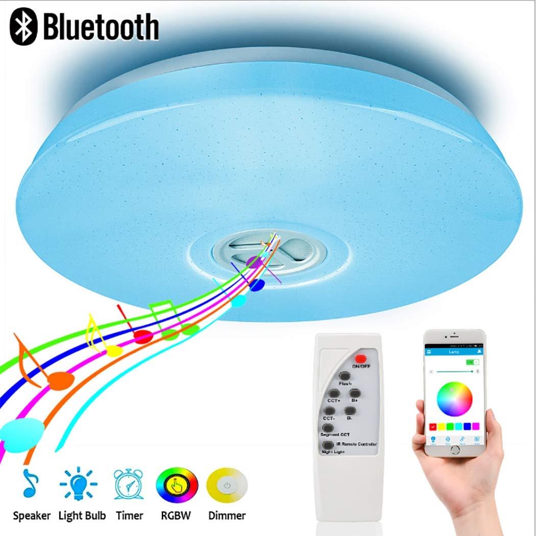 15,7 LED-Deckenleuchten mit Blautooth-Lautsprecher 24W LED-Musikleuchte, dimmbares Licht, Mobiltelefon-APP + Fernbedienung, RGB-Farbwechsel für Partykinderzimmer