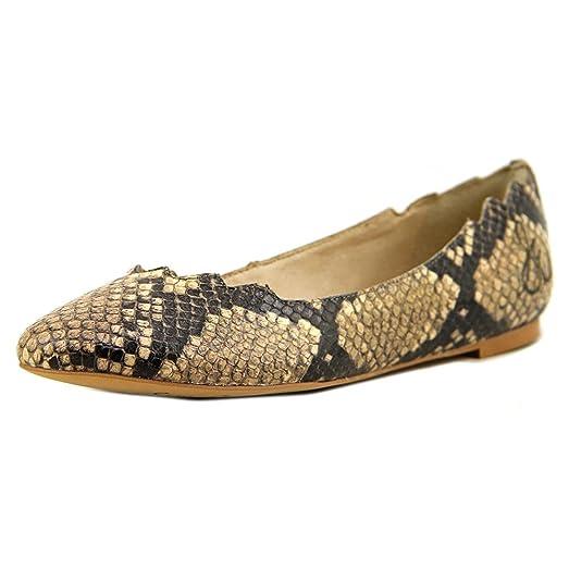 Womens Shoes Sam Edelman Augusta Natural Shiny Python Print