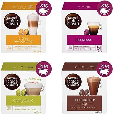 Nescafe Dolce Gusto Espresso, Arabica 100%, Pack de 16: Amazon.es ...