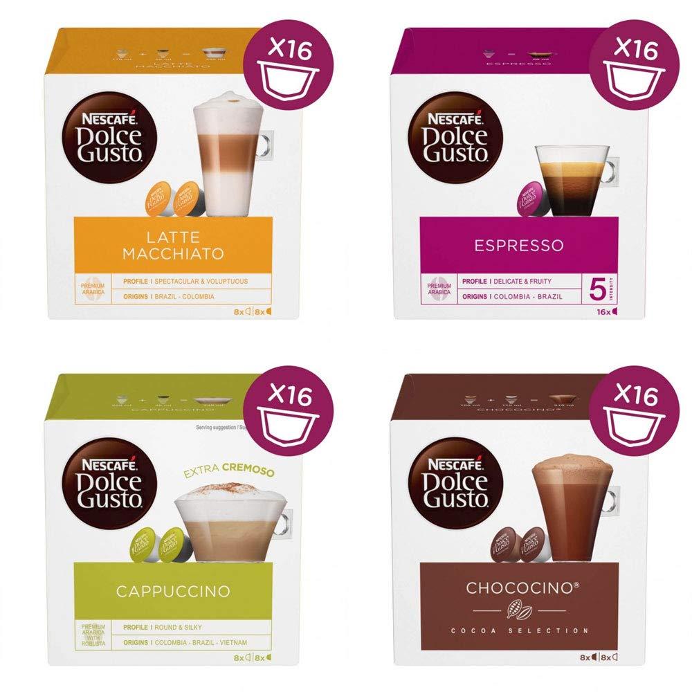 Nescafe Dolce Gusto® - Pack de 4 sabores variados (64 ...