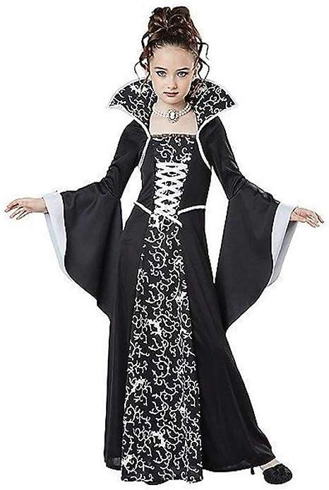 GLXQIJ Disfraz De Reina Vampiro De Halloween para Niñas, Disfraz ...
