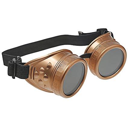 A-szcxtop Steampunk estilo gótico restaurar muzy Wind Protect el ojo gafas de protección necesarias