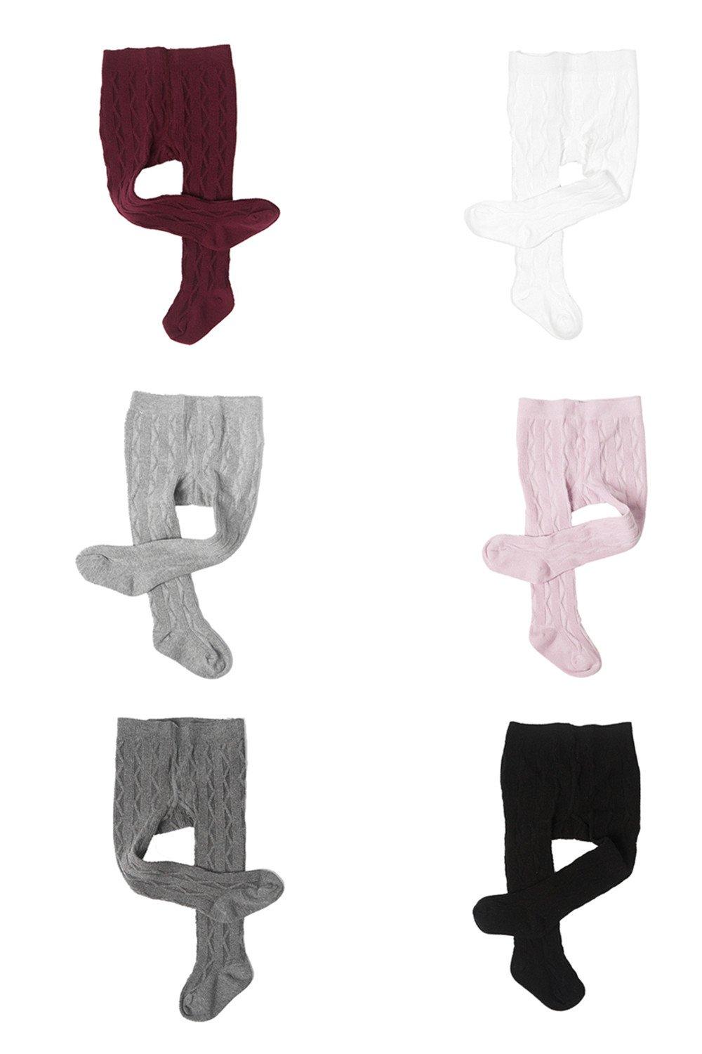 Ding-dong Baby Kid Girl Cotton Tights(Style 7,pack of 6,6-12M) by Ding Dong