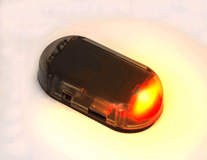 Perfectech Auto Solar Power Simulated Dummy Alarm Warning Anti-Theft geführt Flashing Security Light mit neu Usb Port(Red)