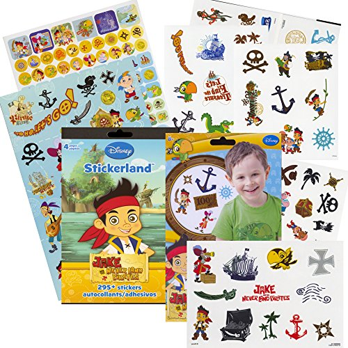 Jake and the Neverland Pirates Stickers & Tattoos Party Favor Pack (295 Stickers & 75 Temporary (Jake And The Neverland Pirate Characters)