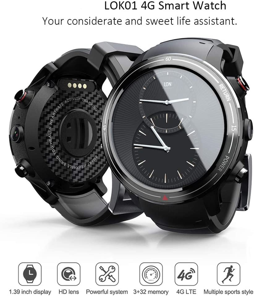 Amazon.com: LOK01 4G Smart Watch Men 3GB+32GB MTK6739M ...